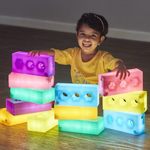 Light Up Glow Construction Bricks  medium
