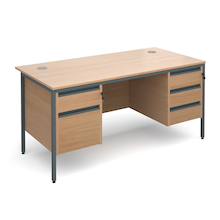 Two & Three Drawer Desk  medium