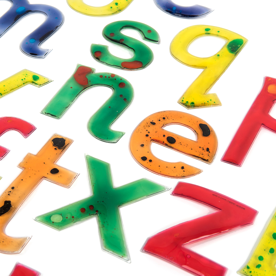 Buy: Buy Squidgy Sparkle Transparent Gel Alphabet Letters