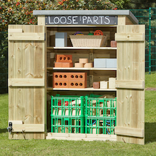 Outdoor Storage Shed with Chalkboard  medium