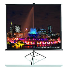 Pull Up Tripod Projector Screen  medium