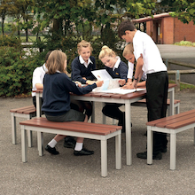 Outdoor Tables and Benches Set  medium