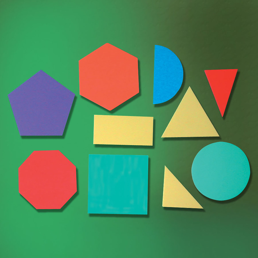 buy 2d foam geometric shapes 10pcs | tts international