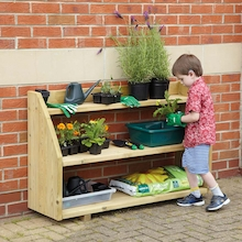 Outdoor Wooden Shelving Unit  medium