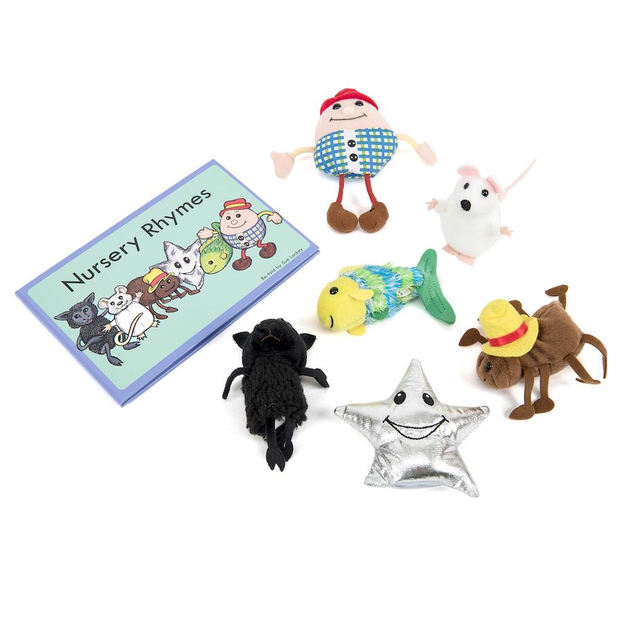 Nursery Rhyme Role Play Finger Puppet Set 6pcs