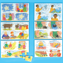 Wooden Nursery Rhyme Jigsaw Puzzle 6pk  medium