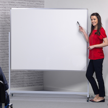 Mobile Height Adjustable Whiteboard  medium