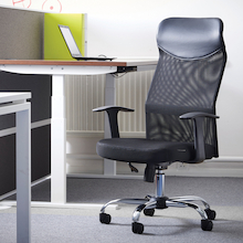 Aurora Black Mesh Operator Chair  medium