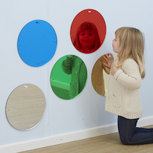 Coloured Circled Mirrors  medium