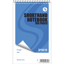 Lined Wirebound Shorthand Notebook  medium