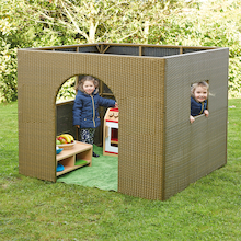 Outdoor Plastic Rattan Play House Den  medium
