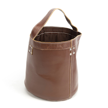 Hand Made Leather Bucket  medium