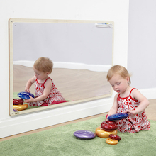 Wooden Framed Toddler Mirror 106 x 66cm  medium
