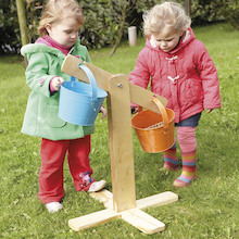 Outdoor Wooden Buckets and Scales Set  medium