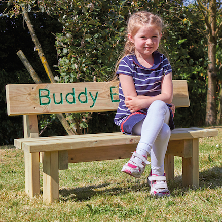 Mini Outdoor Wooden Buddy Bench  large