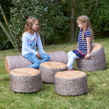 Woodland Tree Stumps Bean Bags  medium